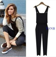 New Chic Women Harem Trousers Romper Jumpsuit Cross Suspender Pants Overall Size