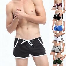 Mens Cotton Boxer Briefs Underwear Stretch Fashion Trunk Short Bulge Lot M L XL