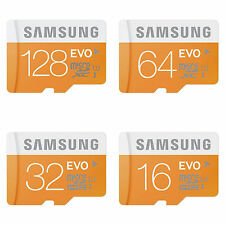 Samsung Micro SD SDXC TF Memory Card EVO Class 10 UHS-1, 16/ 32/ 64 / 128 GB lot