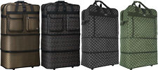 """30"""" / 36"""" / 40"""", Expandable Rolling Duffle Bag Wheeled Spinner Suitcase Luggage"""