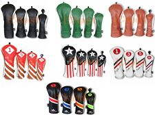 Set of 4PCS Universal Golf Cover Headcovers For Driver+Fairway 3#+5# Wood+Hybrid