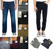 Levi's Button Fly Blue Jean Pants 513 Slim Fit Straight or Jogger Leg Size 29-38