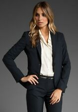 New $395 Theory Gabe Jacket Blazer 0 Black Tailor
