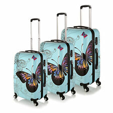 "Light Blue 20""-28""  Luggage 4 Wheel Spinner Suitcase PC Trolley Case Travel Bags"