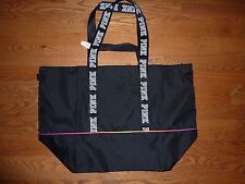 "VICTORIAS SECRET PINK ""PINK"" FULL ZIP TOTE BAG WEEKENDER PURSE GYM BEACH NWT"