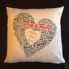 """Personalised Cushions 14"""" or 18"""" - Couples  - Disney - Style 5"""