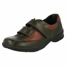 Ladies Easy B Touch Fastener Shoes - Tulip