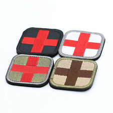 POP Red Cross Medical 3D Embroidery Patch Armband Velcro Props Fabric Patches 1x