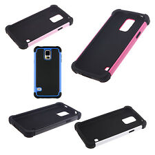 Hard PC + Shock Absorbing Silicone Hybrid Case for Samsung Galaxy S5 -White SYH