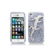 For Apple iPhone SE/5/5S Luxury 3D Full Diamond Lizard Case Skin Cover Bling