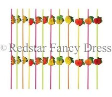 COCKTAIL UMBRELLA STRAWS FRUIT 3D HAWAIIAN BIRTHDAY PARTY HEN STAG BAR BULK