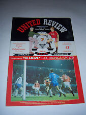 MANCHESTER UNITED v OLDHAM ATHLETIC 1991/92 - VOL53 #15 - LC4 FOOTBALL PROGRAMME