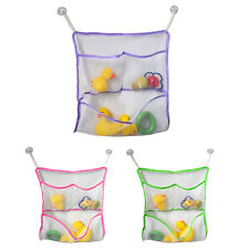 Baby Kids Bath Time Toy  Storage Suction Cup Bag Mesh Bathroom Organiser Net New