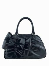 Valentino Patent Lacca Leather Bow Bowling Bag