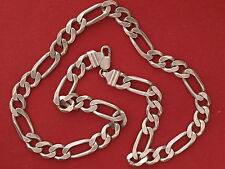 Solid Sterling Silver Chunky Figaro Chain 20