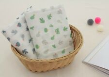 "Cotton Double Gauze Fabric Muslin Baby by the Yard Korean wide 55""_Cactus"