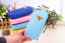Student Portable Pen Pencil Case Holder Pouch Cute Stationery Box Makeup Bag 1pc