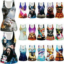 Animal Print Womens Ladies Camisole Vest Gothic T Shirt Casual Blouse Tank Tops