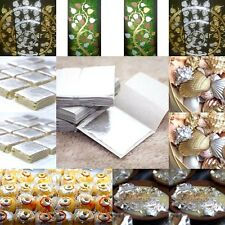 5-100 SILVER LEAF LEAVES 99.9%PURE SIZE4x4 FOOD GRAD EDIBLE 999/1000 CRAFTS DIY.