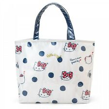 Hello Kitty My Melody Laminate Canvas Tote Bag Shoulder Purse Sanrio Japan S5481