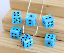 Dice opal pendant cube blue opal charm sterling silver dainty choker necklace