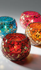 Mosaic Glass Rounded Tealight Holder