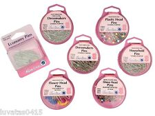Hemline Range Professional & General Purpose Pins Sewing Quilting Dressmakers