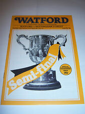 1979 LEAGUE CUP SEMI-FINAL - WATFORD v NOTTINGHAM FOREST - FOOTBALL PROGRAMME