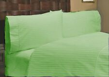 Sage Striped Complete Bedding Collection 1000tc Egyptian Cotton AU King Size