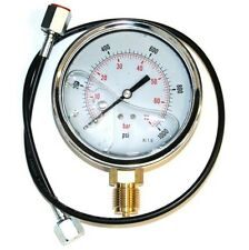 2 METRE HYDRAULIC HOSE TEST POINT AND 0 - 3000 PSI GAUGE ZZ003679