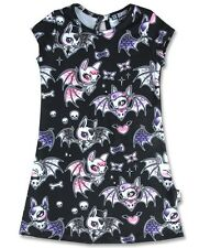 Six Bunnies Kids Cute Bats Dress Alternative Gothic Punk Girls Rockabilly Tunic