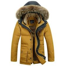New Winter Mens Thick Warm Duck Down Jacket Coat Fur Collar Hoody Parka Outwear