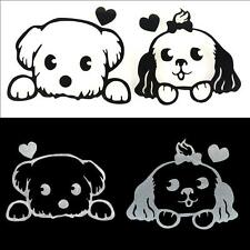 Black White Cute Small Dog Car Stickers Reflective Stickers Waterproof Door CA