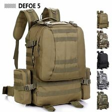 MOLLE Removable Pocket New Outdoor Sports Fashion School Big Large Backpack 50L