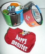 NEW Stride Rite What Monster Are You Today Match 'n Go Socks Mix Colors Feelings