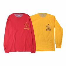 Yeezy Yeezus The Life Of Pablo I Feel Like Pablo Men's Red Yellow T-Shirt Tops