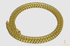 """5mm-7mm 14k Solid Yellow Gold Shiny Miami Cuban Link Chain Necklace 16""""- 30"""""""