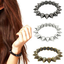Bracelet Punk Rock Gothic Rock Rivet Stud Spike Rivet Bangle Cool Girl 3 Colors