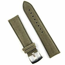 B & R Bands Gray Sierra Sueded Classic Leather Watch Band Strap 20mm 22mm 24mm