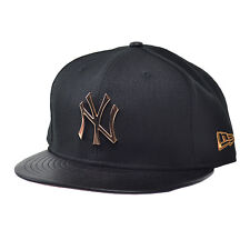 New Era New York Yankees MLB Hardware Silver Logo 59FIFTY Fitted Cap Black/Gold