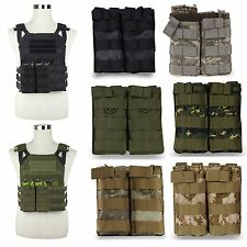 Tactical MOLLE 5.56 Magazine Mag Pouch PALS Double Stacker For M4/M16 AK Holster