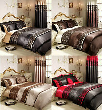 NEW Duvet Cover with Pillow Case Quilt Cover Lace Bedding Set Single Double King