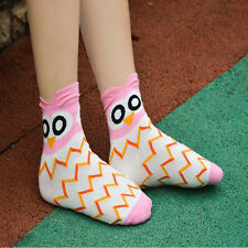 Fashion 1Pair Unique Women and Girls Cartoon Lovely Cute Owl Cotton Sock