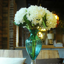 Artificial Hydrangea Silk Flowers Leaf Bouquet Wedding Bridal Party Room Decor