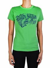 NEW LUCKY BRAND JEANS JUNIORS GRAPHIC COTTON TEE ROCKING IN THE USA GREEN MSRP35