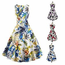 50s 60s Women Swing Vintage Retro Housewife Pinup Rockabilly Evening Party Dress