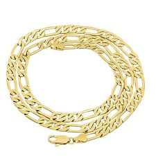 Figaro/Cuban Link chain 18K Gold Filled Hip Hop 60CM Wide 7MM Thick Heavy Cool
