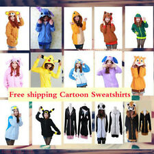 Warm Polar Fleece Animal Cute Cartoon Hoodie With Ears Hooded Hoody Coat Jacket*