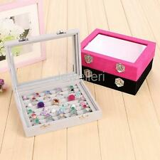 8 Grid Ring Brooch Pin Earring Stud Jewelry Box Storage Organizer Container