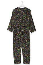 Topshop Boutique 100% Silk Falling Leaf Print Shirt Jumpsuit UK 6 8 34 36 US 2 4